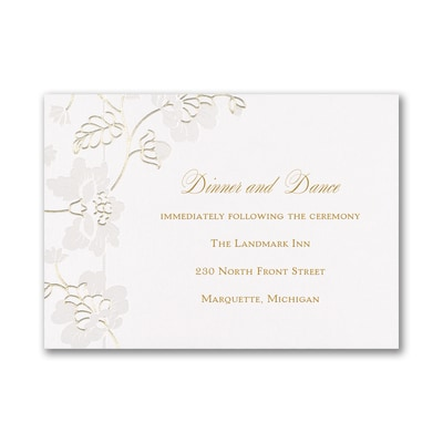 Delicate Blossoms - Reception Card