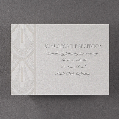 Deco Art - Reception Card