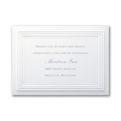 White Paneled - Reception Card