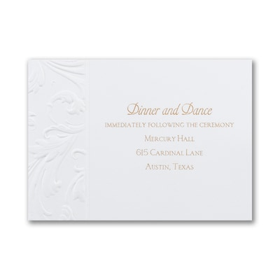 Antique Flourish - Reception Card