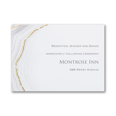 Golden Agate - Reception Card