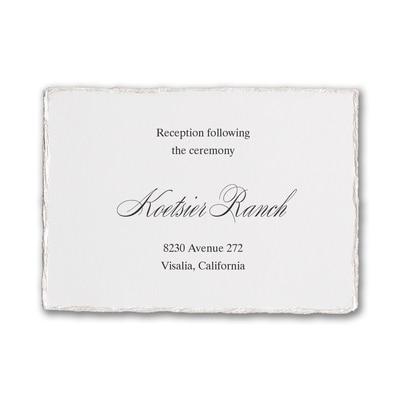 Deckled Elegance - Reception Card