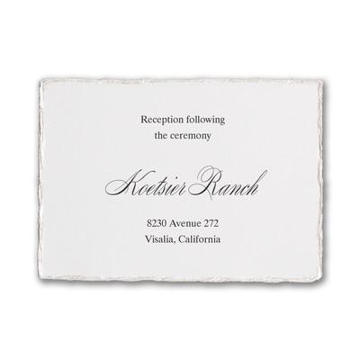 Deckled Elegance - Reception Card