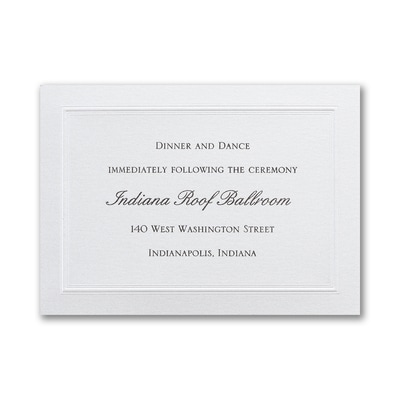 Shimmering Wedding - Reception Card