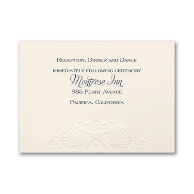 Ocean Romance - Reception Card