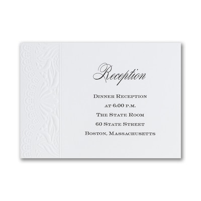 Shimmering Elegance - Reception Card