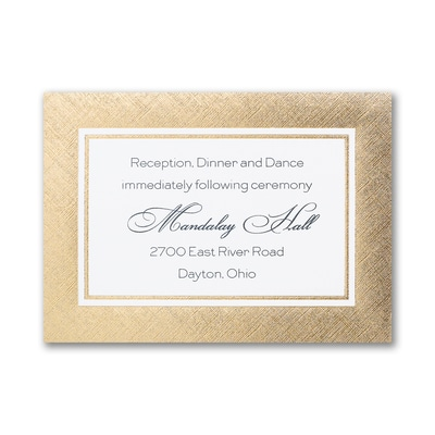 Lovely in Linen - Reception Card