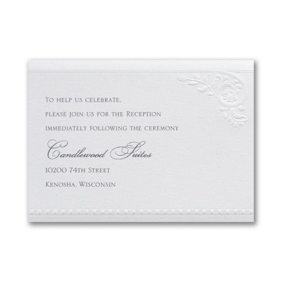 Divine Day - Reception Card - White Shimmer