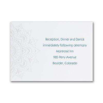 Intricate Flower - Reception Card