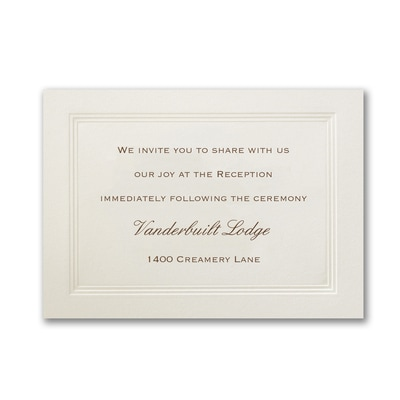Ecru Tradition - Reception Card