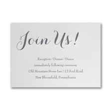 Typography Style - Reception Card