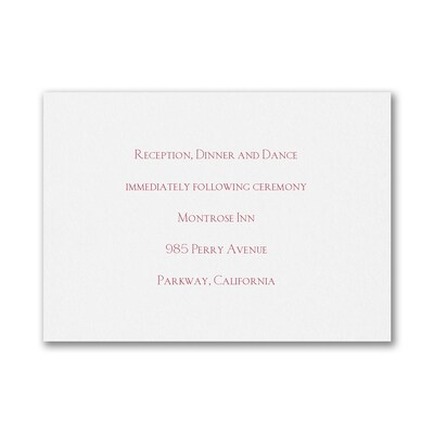 Bright White - Reception Card