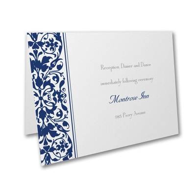Filigree Splash - Reception Card