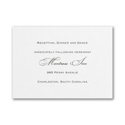 Shimmer - Reception Card