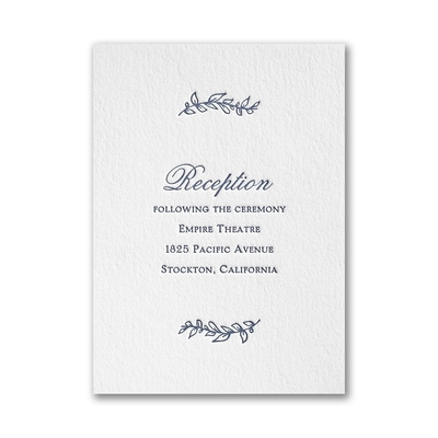 Whimsical Day - Reception Card