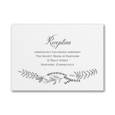 Shimmering Vines - Reception Card