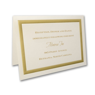 Golden Memories - Reception Card