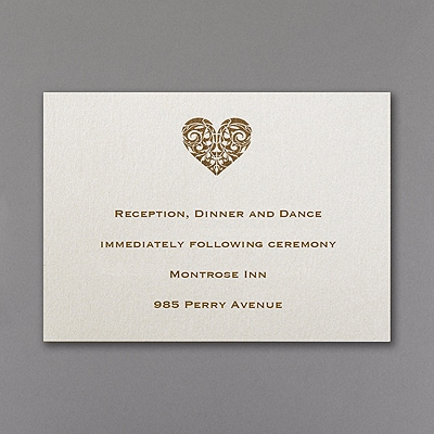 Latte Heart - Reception Card