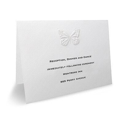 Butterfly Wishes - Reception Card
