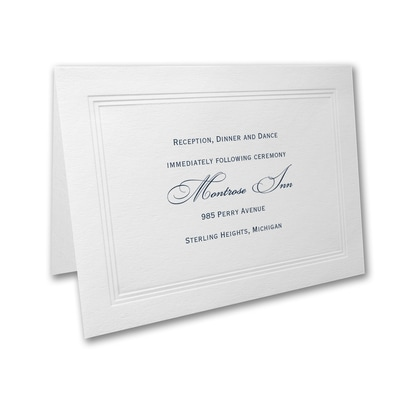 Paneled - Reception Card