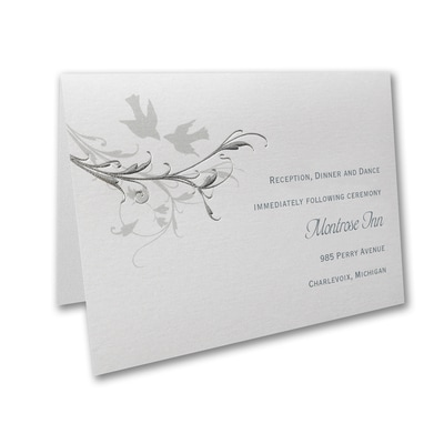 Silver Vines - Reception Card