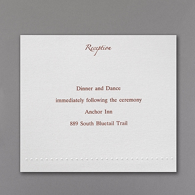 White Shimmer Pocket - Reception Card