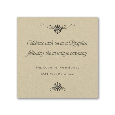 Wrapped in Gold - Reception Card