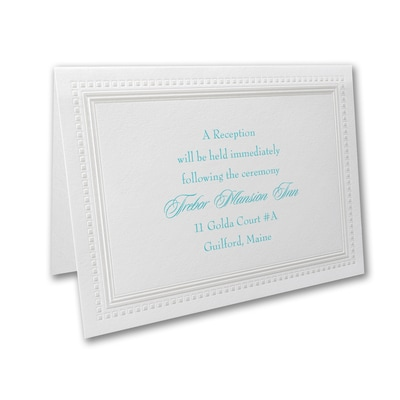 Bright White Squares - Reception Card