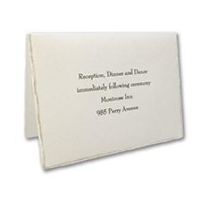 On the Edge - Ecru - Reception Card