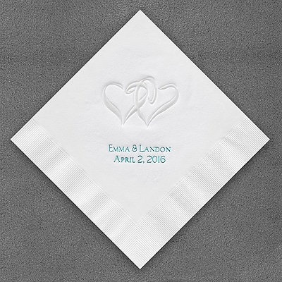Pearl Swish Hearts Napkins