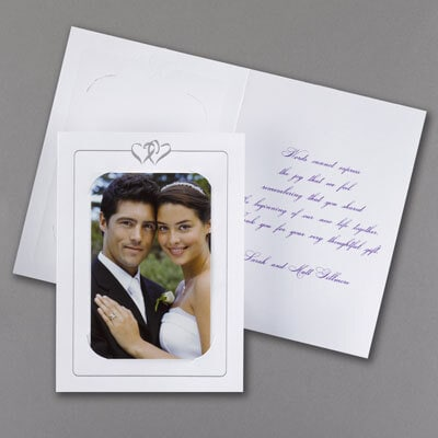 Photo Holder - Thank You Card with Verse and Envelope