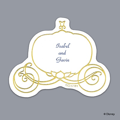 Cinderella Gold Carriage Seal - Printed