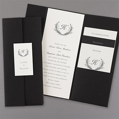 trifold invitation wedding invitations carlson craft wedding