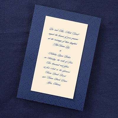 Ecru Elegant Vintage Border - Invitation