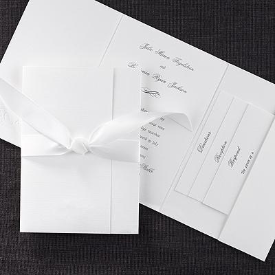 tied trifold invitation wedding invitations carlson craft