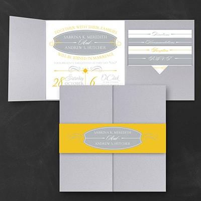 Sleek Simplicity - Pocket Invitation