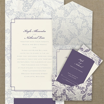 staples wedding invitations tapestry pattern invitation gt wedding invitations staples 7666