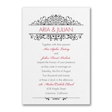 Antique Sophistication  - Wedding Invitation