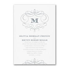 Passionate Monogram - Invitation