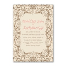 Vintage wedding invitation: Timeless Flourish