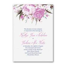 Enchanted Garden - Floral - Invitation