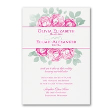Lovely Roses - Invitation