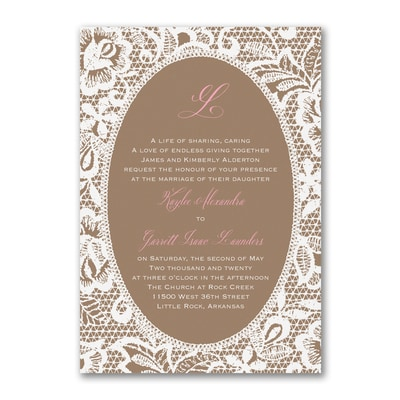 Traditional Lace - Invitation