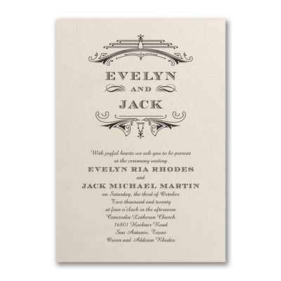Elegant Deco - Invitation