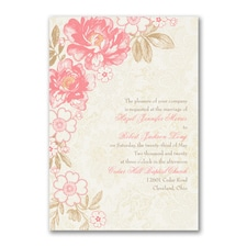 floral invitation: Decorative Floral