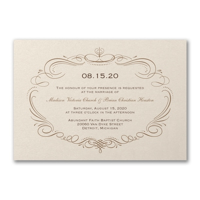 Elegant Swirls - Invitation