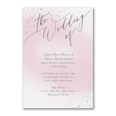 Champagne Wedding - Invitation