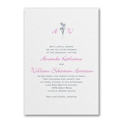 Floral Monogram - Invitation