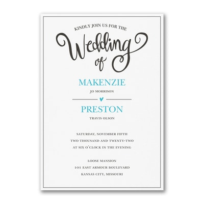 Wedding Whimsy - Invitation