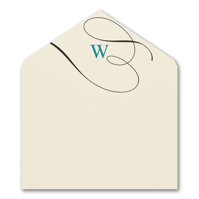 Fancy Monogram Envelope Liner